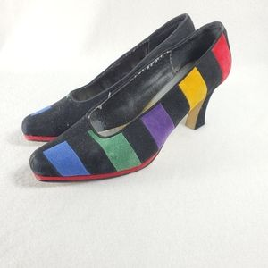 J. Renee Bright Multi-Colored Closed Toe Stiletto